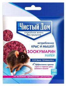 """Чистый Дом"" гранулы Зоокумарин  200 гр."